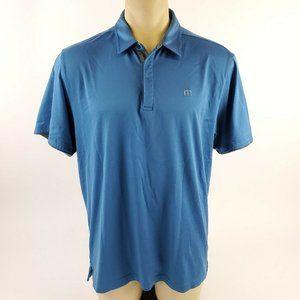 TRAVIS MATHEW Men's Blue Golf Polo Shirt XL